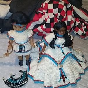 Indian Couple Crocheted by hand